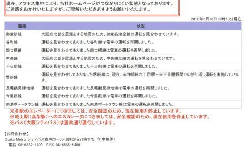 大阪メトロ 最新情報