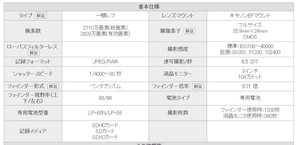 EOS 6D Mark II レビュー スぺック